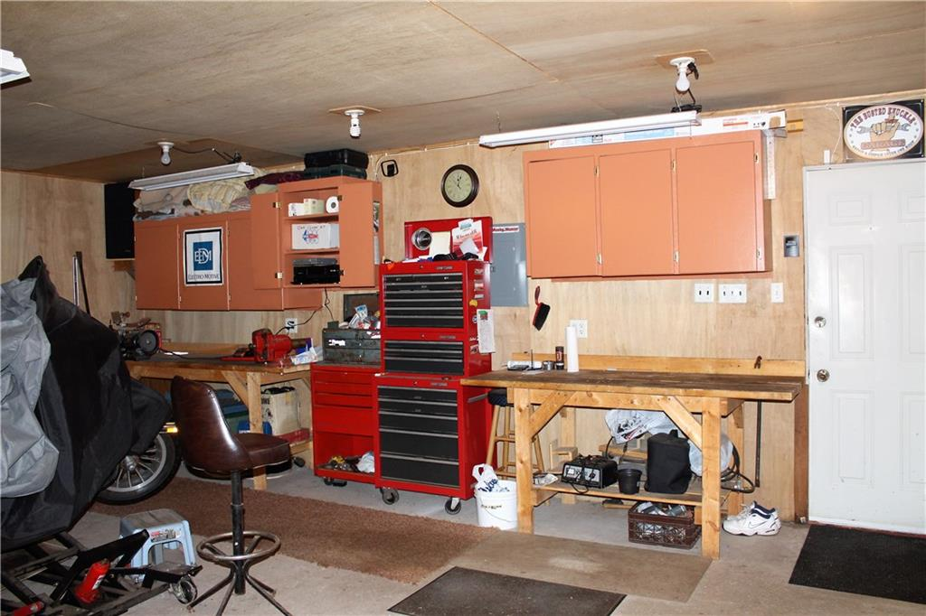 Work area in garage - 12174 Conger Road Couderay
