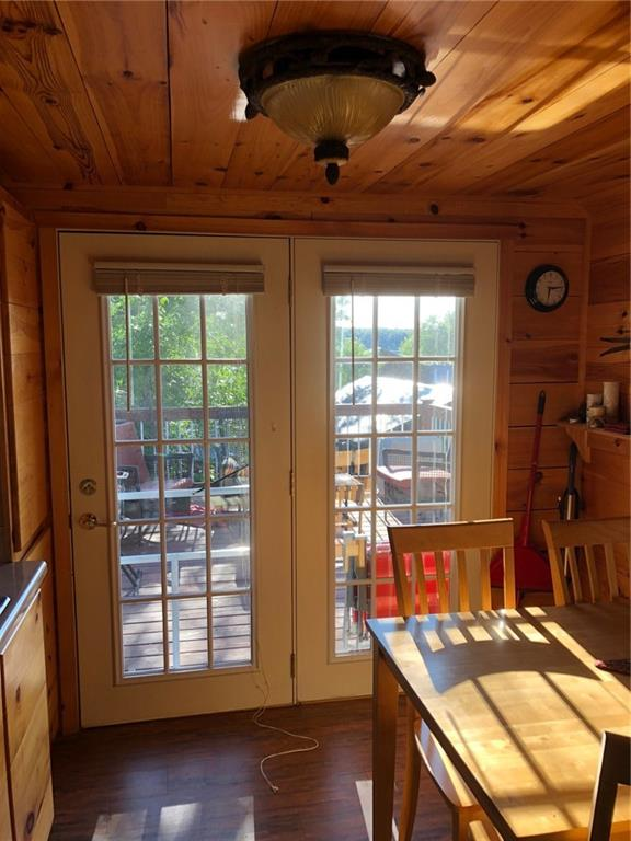 Beautiful french doors going out to the deck - 2369 108th Street Luck