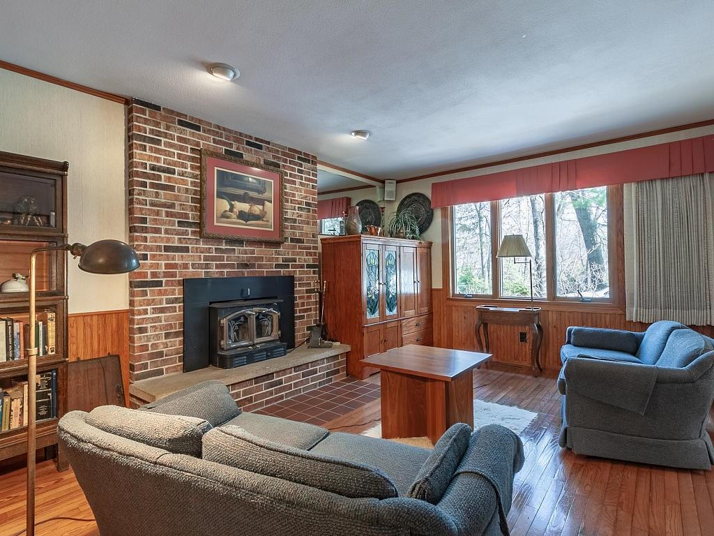 Wood floors in this family room add to the warm and cozy feeling! - E4505 479th Avenue Menomonie
