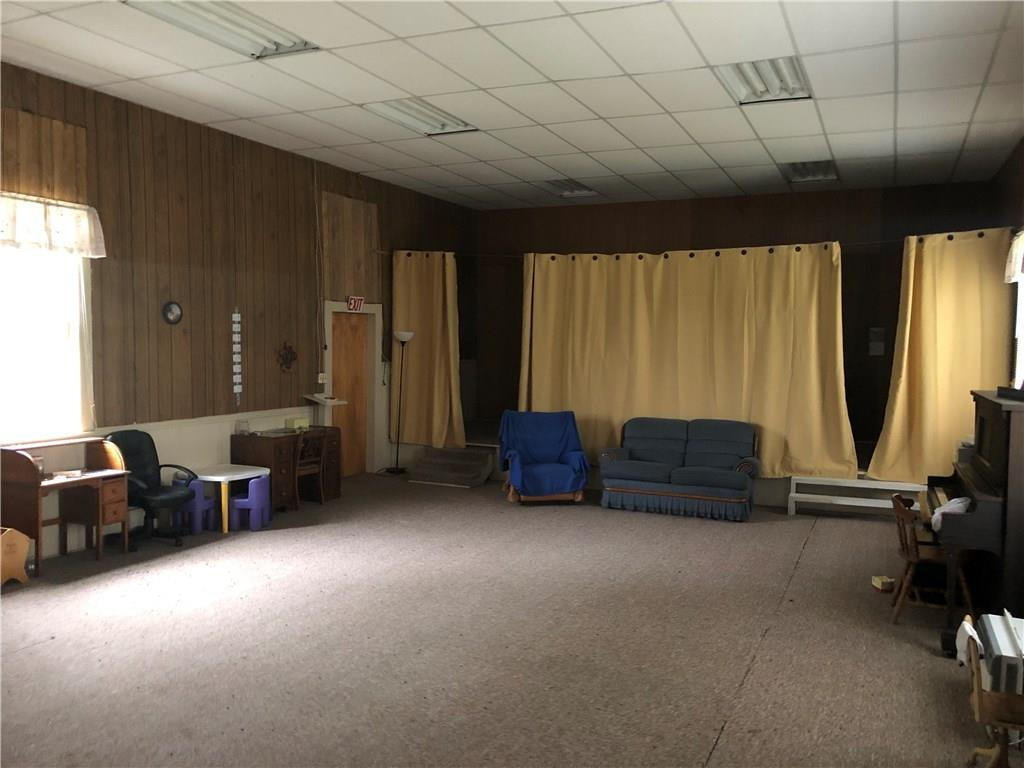Church interior.  Alter is behind curtains. - 28142 County Hwy W  Holcombe