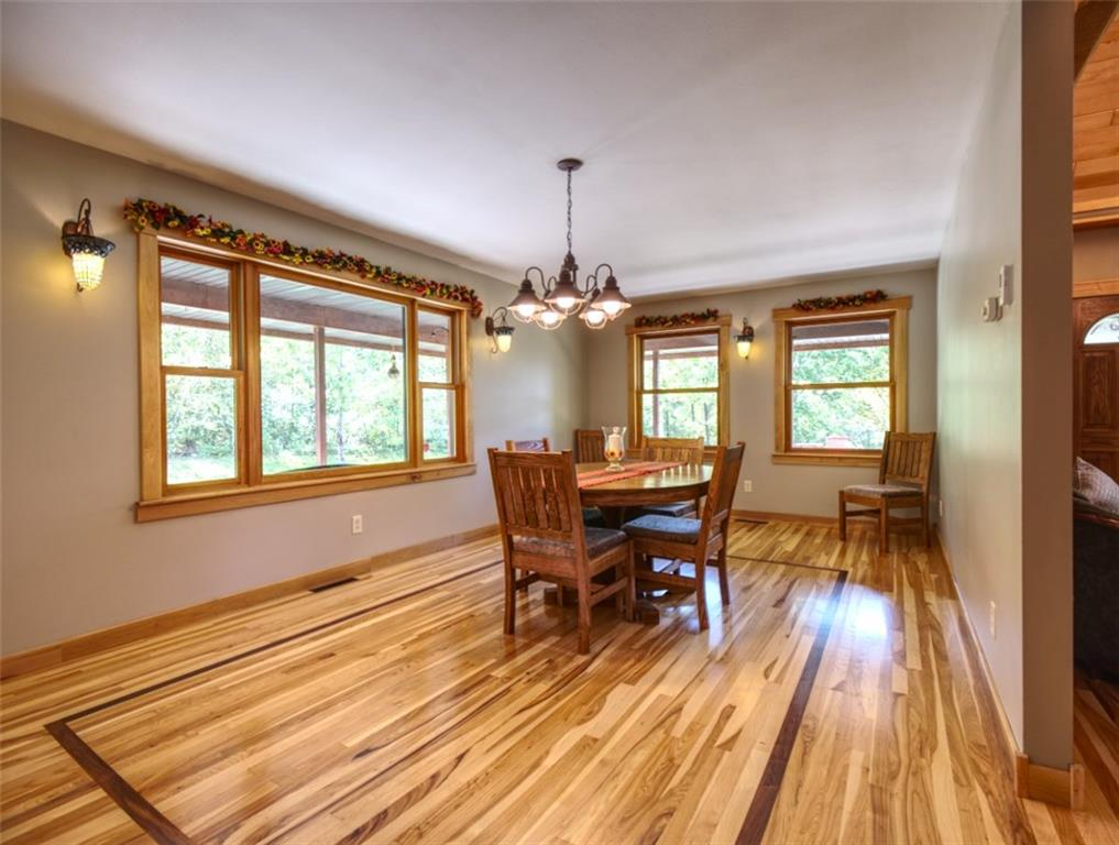 beautiful dinging room with walnut inlay - 15899 156th Street Bloomer
