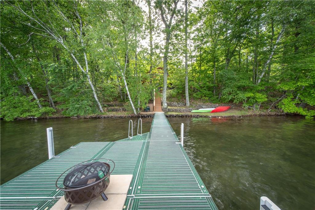 spacious dock with fire bowl with sand bottom swimming area - 10726N Peninsula Road Hayward