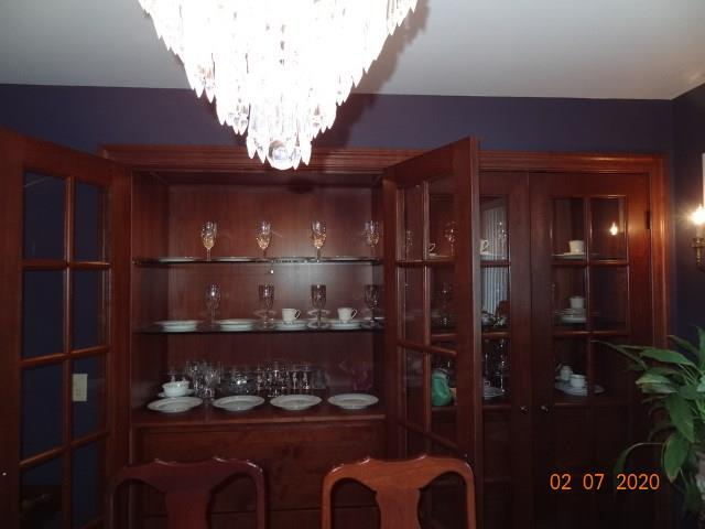 Formal Dining Room with Cherry Wood Built-in China Cabinet - 615 Willow Street Chippewa Falls
