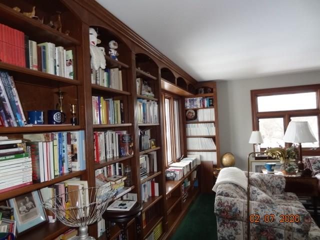 3rd Floor Library Room with Built-in Bookshelves - 615 Willow Street Chippewa Falls