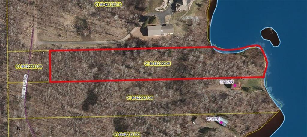 Over 3 acres of nicely wooded property on Nelson Lake, with 350 feet of meandering shoreline! - Lot 1 Erickson Road Hayward